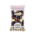 Milk, Plain, and White Chocolate Coated Almonds Calimenta